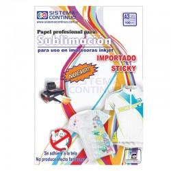 Papel para Sublimar Importado Sticky A3 - No Fantasmea - Paquete x 100 hojas
