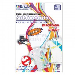 Papel para Sublimar Importado Sticky A4 - No Fantasmea - Paquete x 100 hojas