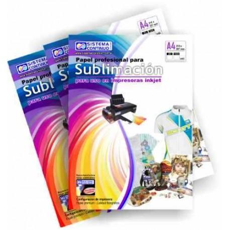 Papel para Sublimar Importado - A4 - Paquete x 100 hojas - Sistema ... 019bf59acc101