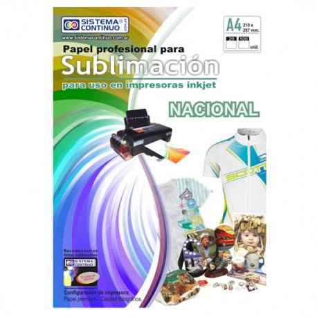 Papel para Sublimar Nacional - A4 - Paquete x 100 hojas