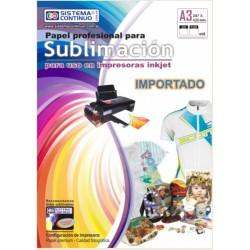 Papel para Sublimar Importado - A3- Paquete x 100 hojas