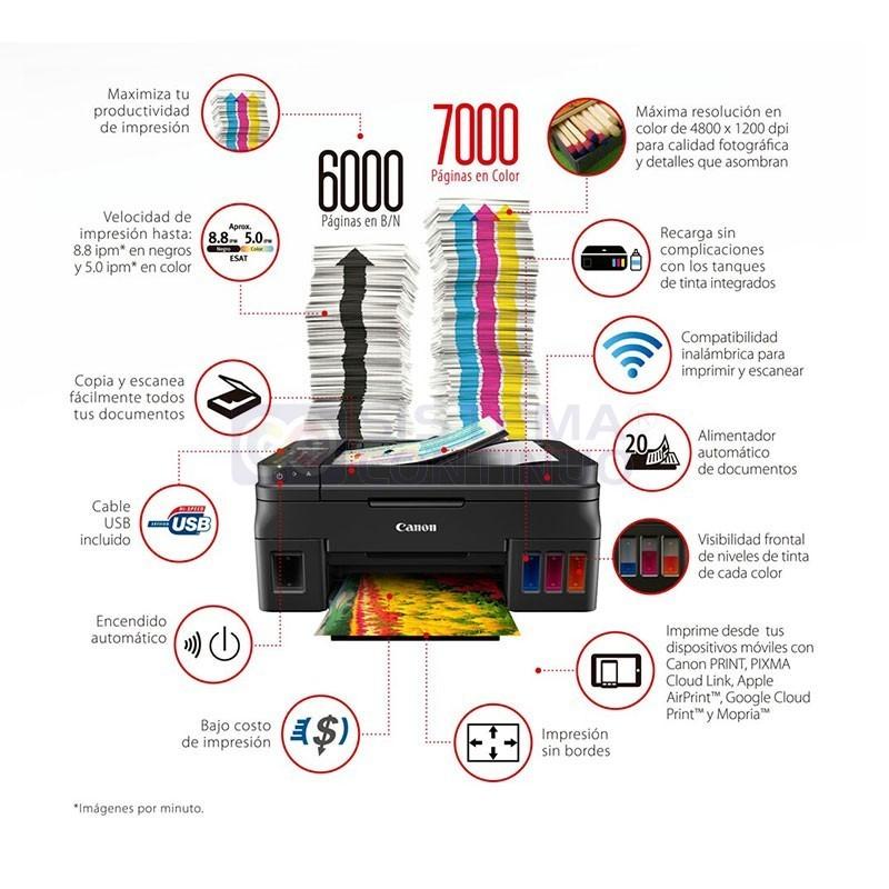 Impresora Canon Pixma G4100 Wifi Sistema Continuo