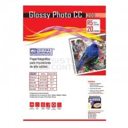 Papel Glossy Fotografico CC R5 200gr x20 Hojas