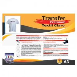 Transfer Premium Para Prendas Claras - A3 x5 Hojas