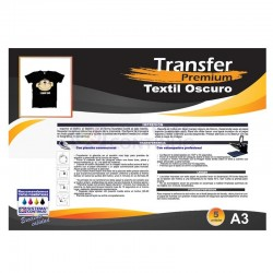 Transfer Premium Para Prendas Oscuras - A3 x5 Hojas