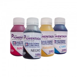 Tinta Pigmentada para HP Premium Negro / Amarillo / Magenta / Cian