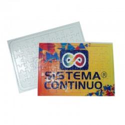 Rompecabezas sublimable de cartón 54 piezas blanco brillante x10 Unidades