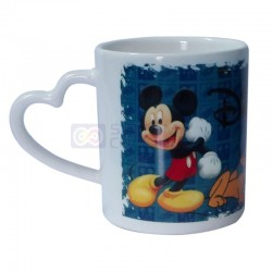 Taza Ceramica Sublimable Asa Corazon