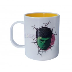Taza Interior Amarillo de Polimero Sublimable