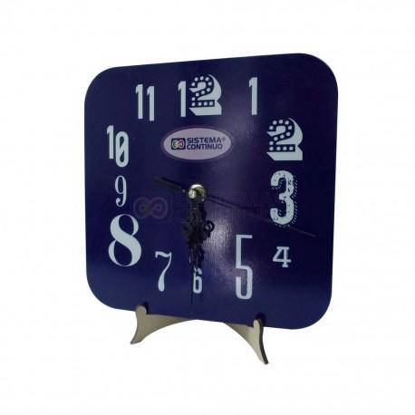 Reloj Cuadrado Sublimable De Madera Con Maquina