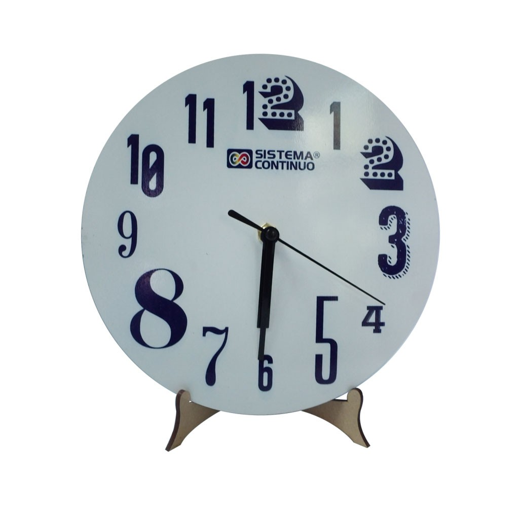 Reloj Sublimable Madera Continuo Con Redondo De Sistema Maquina WEDH2I9