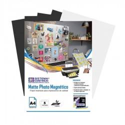 Papel Magnetico Fotografico Matte A4 x 5 Hojas