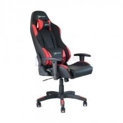 Silla Gamer Negra con Rojo 2D