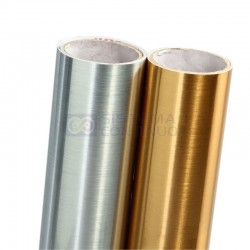 Vinilo Serie 7800 Metalizado Poliester Plata