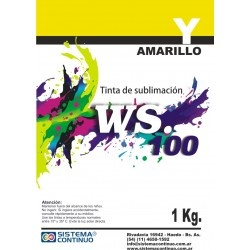 Tinta Sublimacion WS100 Amarillo x 1 Litro