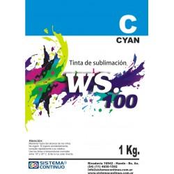 Tinta Sublimacion WS100 Cyan x 1 Litro