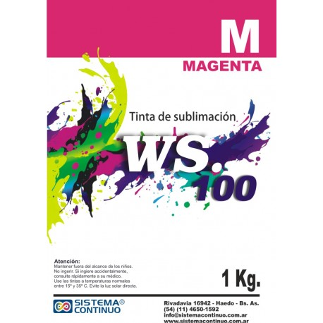 Tinta Sublimacion WS100 Magenta x 1 Litro