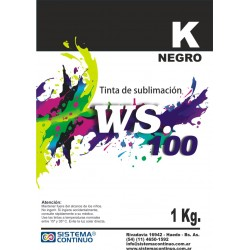 Tinta Sublimacion WS100 Negro x 1 Litro