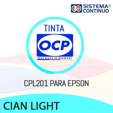 Tinta OCP Pigmentada CPL201 Cian Light para Epson