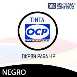 Tinta OCP Pigmentada BKP89 Negro para HP