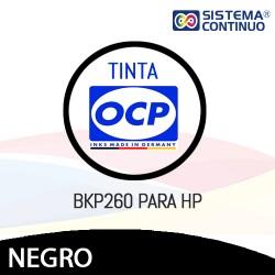 Tinta OCP Pigmentada BKP260 Negro para HP