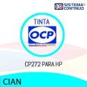 Tinta OCP Pigmentada CP272 Cian para HP