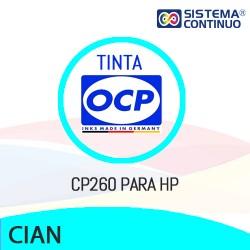 Tinta OCP Pigmentada CP260 Cian para HP