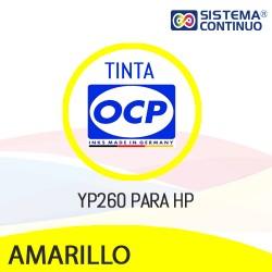 Tinta OCP Pigmentada YP260 Amarillo para HP