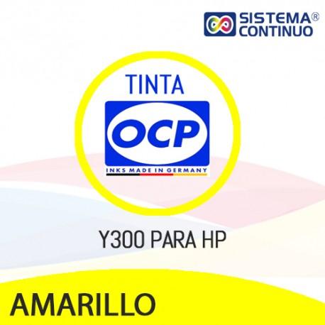 Tinta OCP Dye Y300 Amarillo para HP