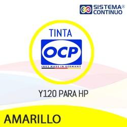 Tinta OCP Y120 DYE Amarillo para HP
