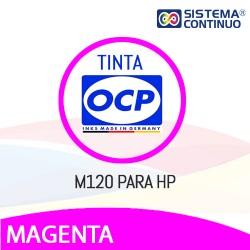 Tinta OCP Dye M120 Magenta para HP