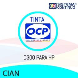 Tinta OCP Dye C300 Cian para HP