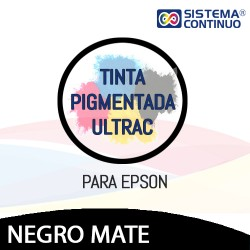 Tinta Pigmentada Ultrac Para Epson Negro Mate