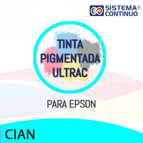 Tinta Pigmentada Ultrac Para Epson Cian